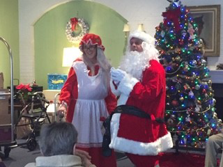 Santa and Mrs Claus at The Mews